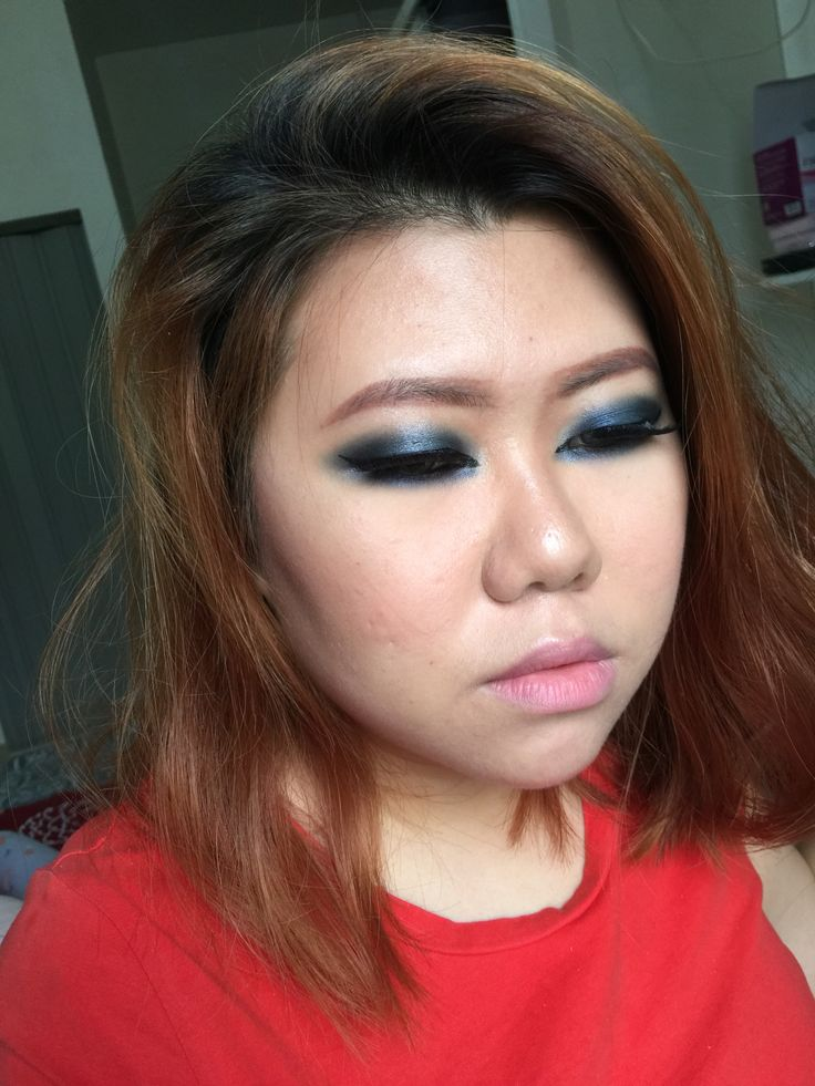 Blue smokey eyes | asian | monolid