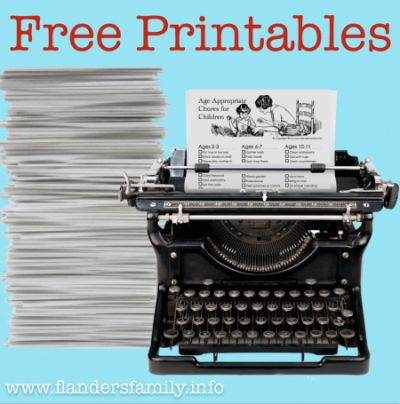 tons of free printables for home organization, schedule planning, and home schooling from www.flandersfamily.info