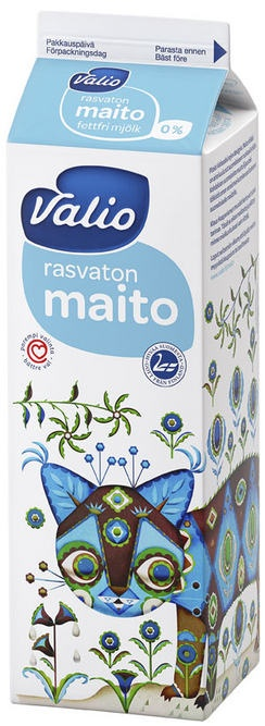 Valio Milk carton, Design by Klaus Haapaniemi