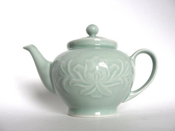 Vintage Celadon Teapot - idea for Russell's Teapot tattoo