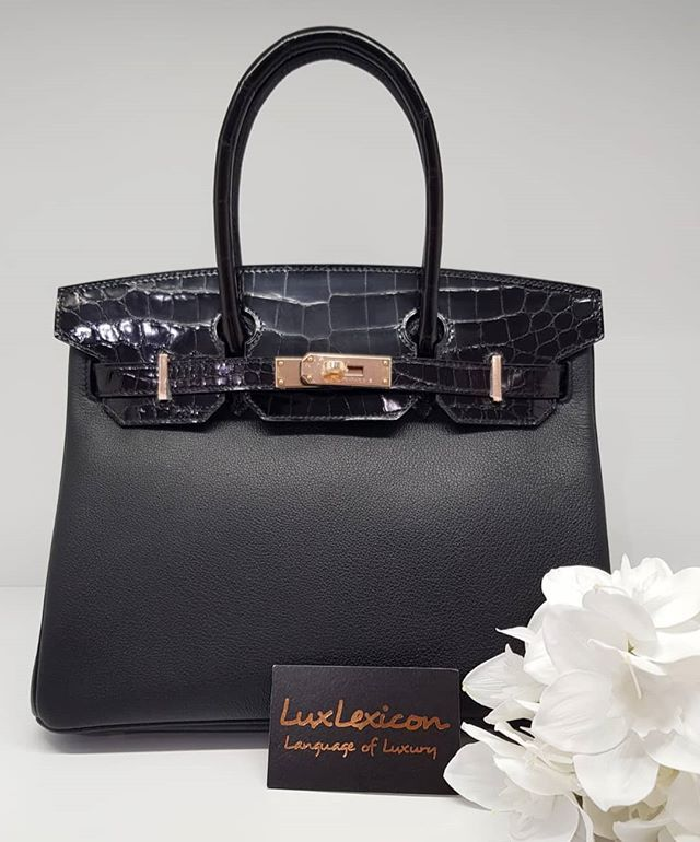 4a0e0a06a810 Priced to sell  55000 wire. New Black Shiny Niloticus Birkin 30 Touch Rose  Ghw.