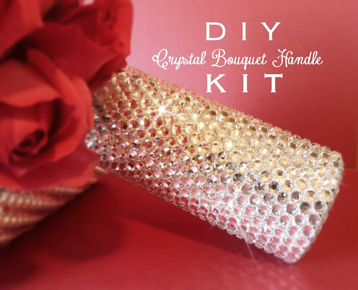 DIY crystal bridal bouquet handle holder kit.  For the DIY Bride