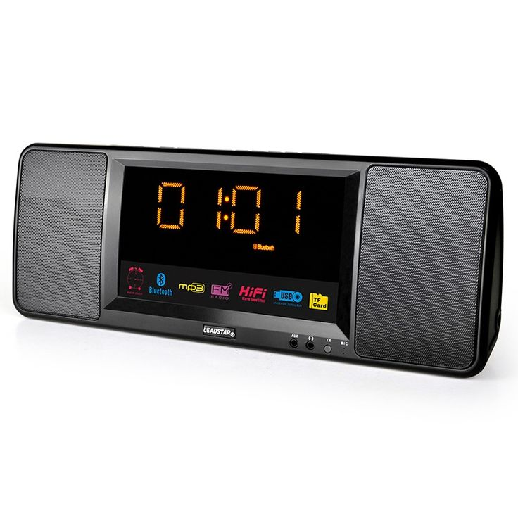 43.95$  Watch here - http://alix4o.shopchina.info/go.php?t=32795441294 - stereo Bluetooth wireless speaker large screen remote clock sound card small portable stereo FM radio  #aliexpress