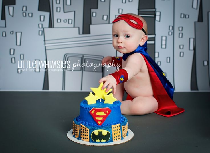 Superman Cake Smash! #Superman #CakeSmash #Messy #Cape #Mask #Superman #NYCPhotographer #WestchesterPhotographer #Babies #FirstBirthday #LittleWhimsiesPhotography