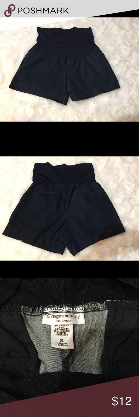 Liz Lange target maternity shorts 🎯 size Xl Jean shorts, elastic maternity band, Liz Lange, XL Liz Lange Shorts Jean Shorts