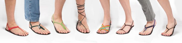 Many ways to tie barefoot sandals