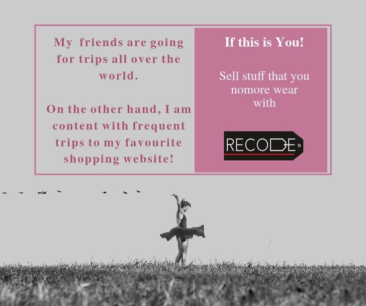 Cheers to the Shopper in you! Sell with Recode today.. www.recode.co.in