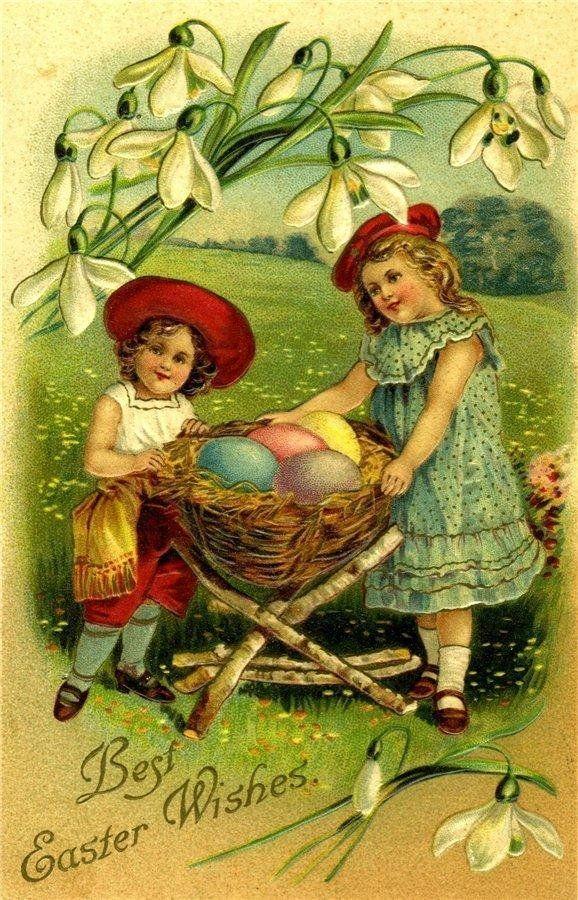 Для, открытки с пасхой красивые 1920-1930 год