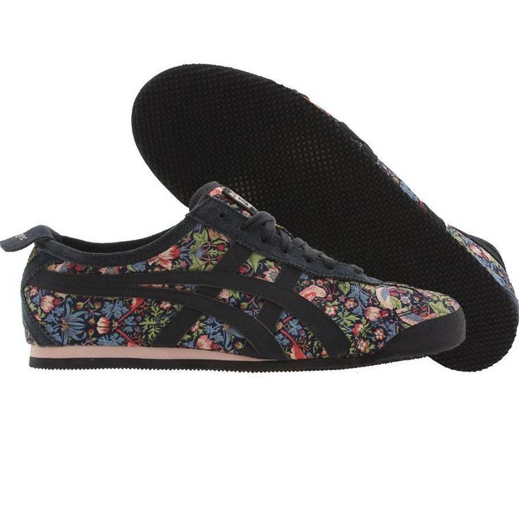 Asics Onitsuka Tiger Womens Mexico 66 shoes in starberry thief and mid night blue.