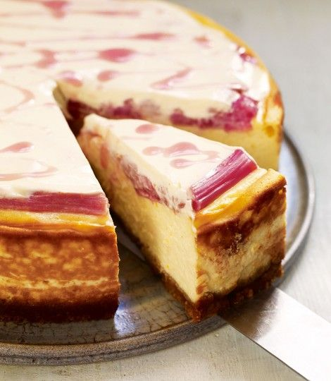 Pud tonight? Baked rhubarb and orange cheesecake recipe