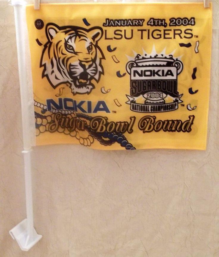 LSU Tigers 2003 National Championship Car Flag Sugar Bowl Bound Blast From Past #Rico #LSUTigers