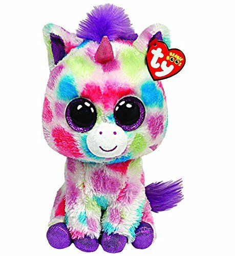 """Ty Beanie Boo 6"""" Plush - Unicorn Wishful Suitable for ages 3 Years + Safety Information: Warning. Not suitable for Children under 3 years."""