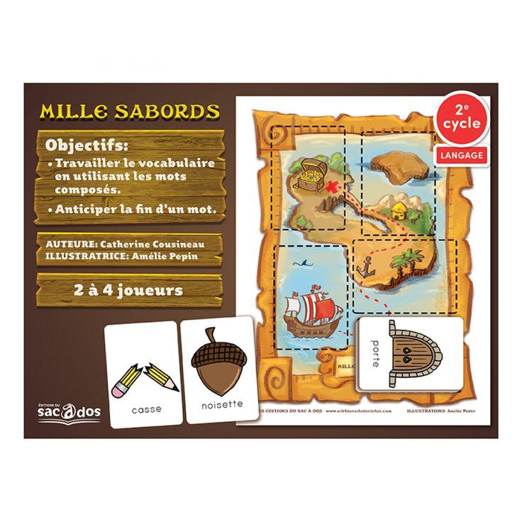 Ce jeu permet de travailler les mots composés.