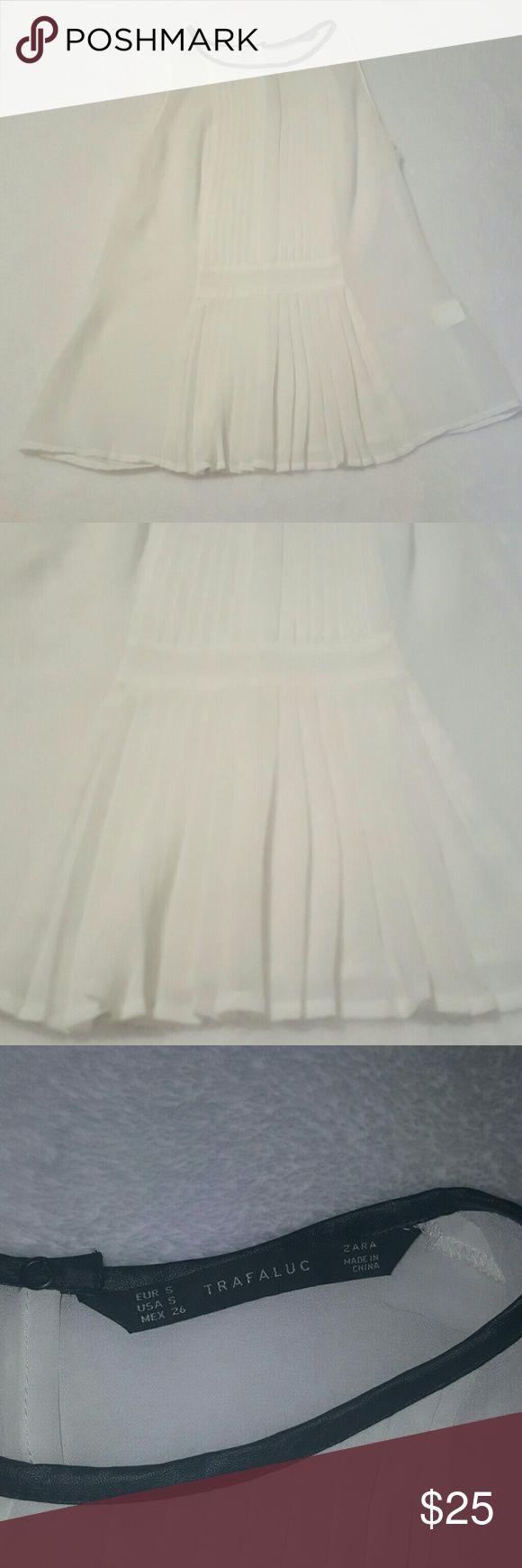 ZARA top Delicate, almost sheer top in white. Trafaluc collection. ZARA Tops Blouses