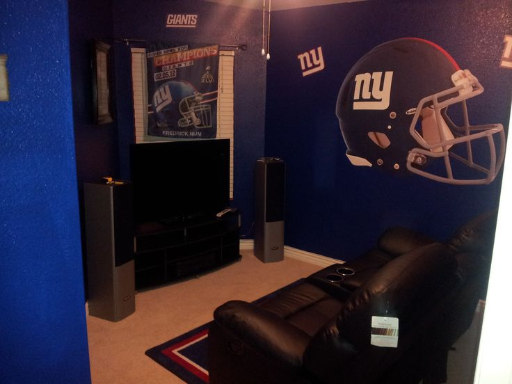 Ny Giants Man Cave Ideas : My ny giants man cave is complete room