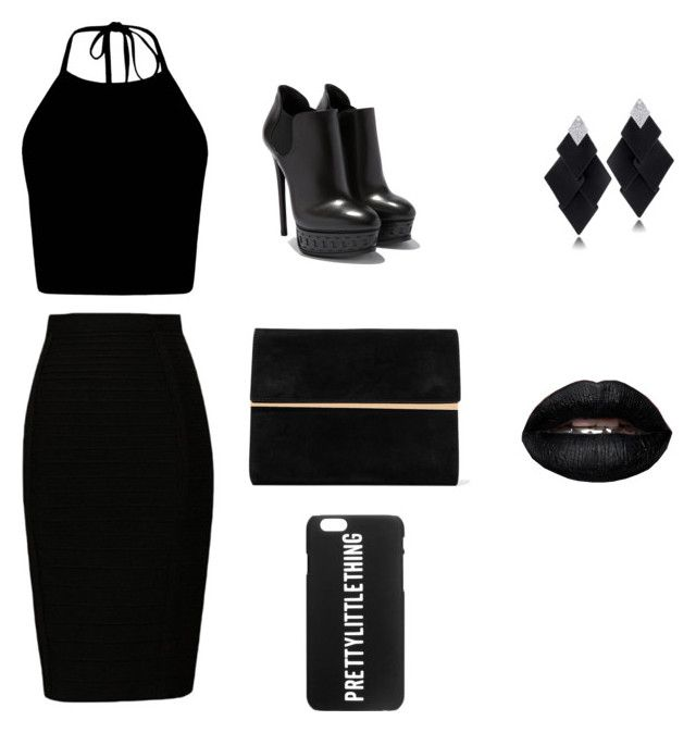 """""""Black"""" by elizanico ❤ liked on Polyvore featuring Maison Margiela and Roberto Demeglio"""