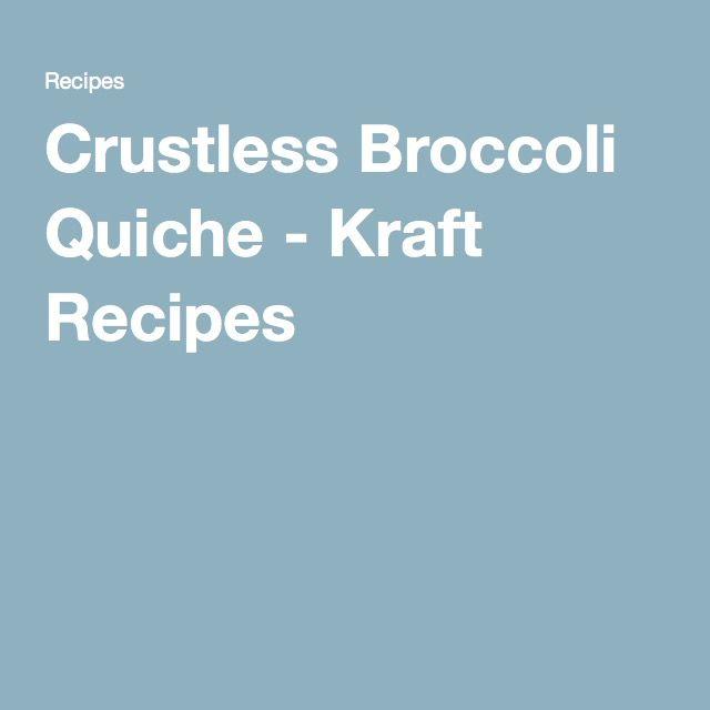 Crustless Broccoli Quiche - Kraft Recipes