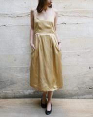 Something Else  Bodice Dress in Gold