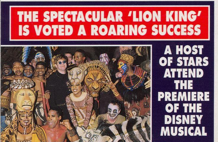 elton john and the cast of  u0026 39 the lion king u0026 39  musical