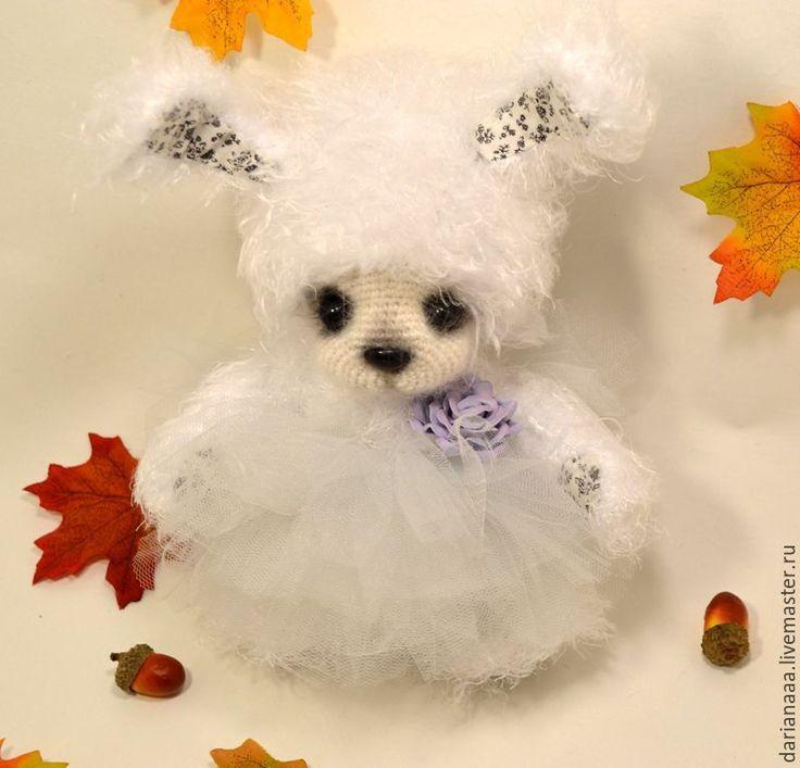 Купить Зайка - белый, зайка, вязаная игрушка, игрушка ручной работы, подарок, сувениры и подарки