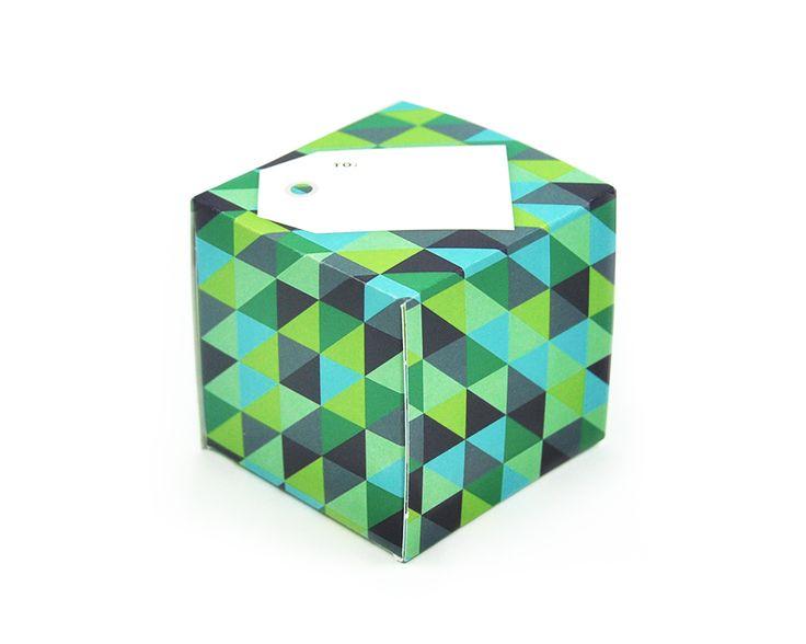 greetabl Triangles (cool) greeting card and gift box, (http://www.kamidori.com.au/triangles-cool/)