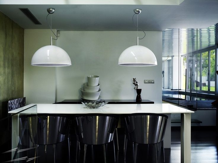 Buy This LEDS C4 Umbrella Pendant Light White Exterior And Silver Interior  600mm Dia With Part 93