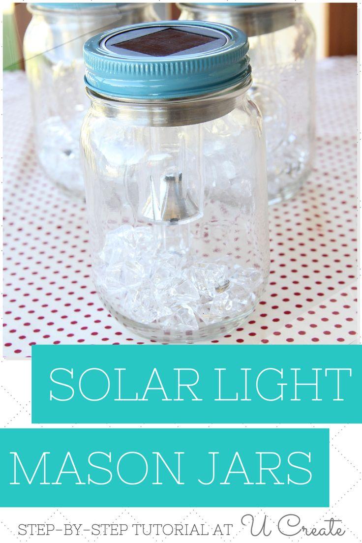 **DIY Solar Light Mason Jars**