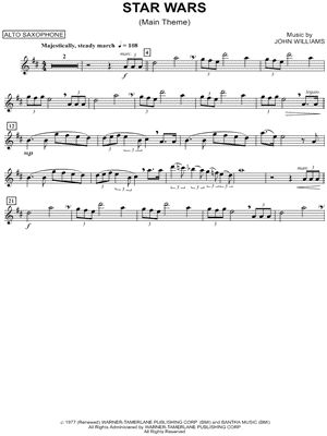 Star Wars (Main Theme) - Alto Sax sheet music from Star Wars