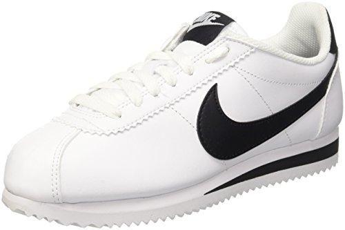 Oferta: 85€. Comprar Ofertas de Nike Wmns Classic Cortez Leather, Zapatillas de Deporte para Mujer, Blanco (White / Black-White), 38 EU barato. ¡Mira las ofertas!