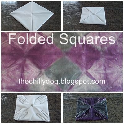 The Chilly Dog: Tie Dye July - Four Intermediate Folding Techniques