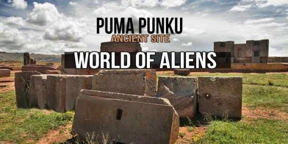 Nestled in the remains of the ancient city of Tiahuanaco, Bolivia, is the megalithic ruins site called Puma Punku. Archeologists believe the site to be the cradle of civilization in South America–predating the Myans.  Pumapunku or Puma Punku (Aymara and Quechua puma cougar, puma, punku door,