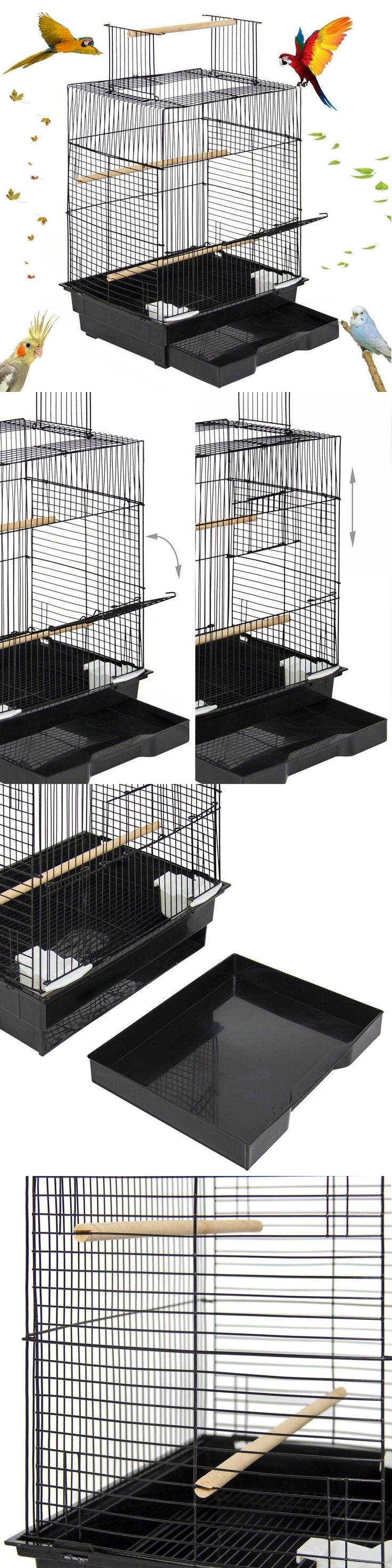 Cages 46289: Bird Cage With Open Play Top Parrot Small Birds Parakeets Habitat Caged Macaw -> BUY IT NOW ONLY: $46.99 on eBay!