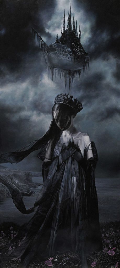 This gave me the idea of Euphian weeping for something in the fade, with the Black City looming above her eerily
