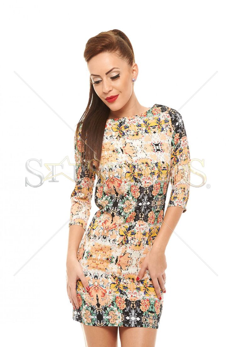 Floral Mosaic Cream Dress