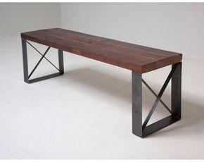 Élégant moderne industriel récupéré banc / table par BlakeAvenue
