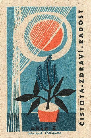 czechoslovakian matchbox label on Flickr - Photo Sharing!
