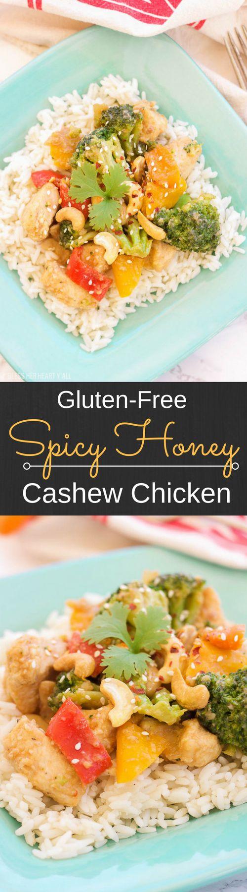 Sriracha Honey Cashew Chicken Recipe — Dishmaps