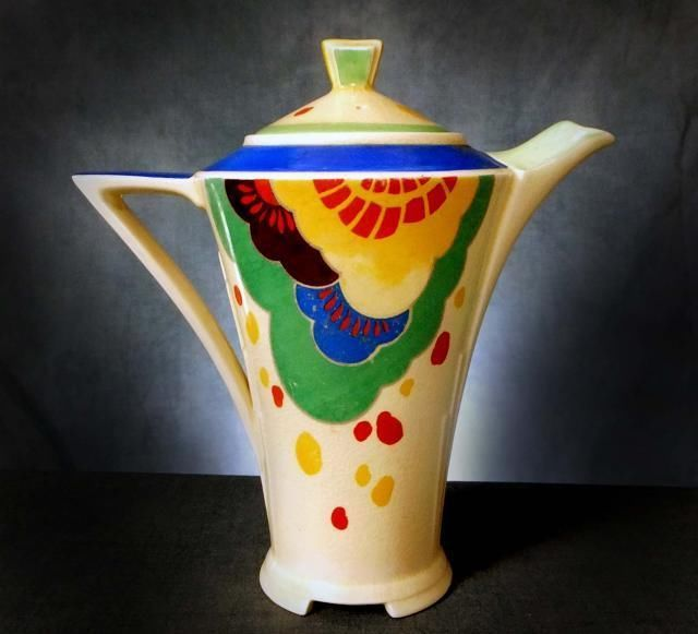 RARE Royal Doulton Art Deco ' Gaylee ' Coffee Pot