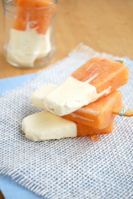 peaches and cream ice pops | Desserts | Pinterest