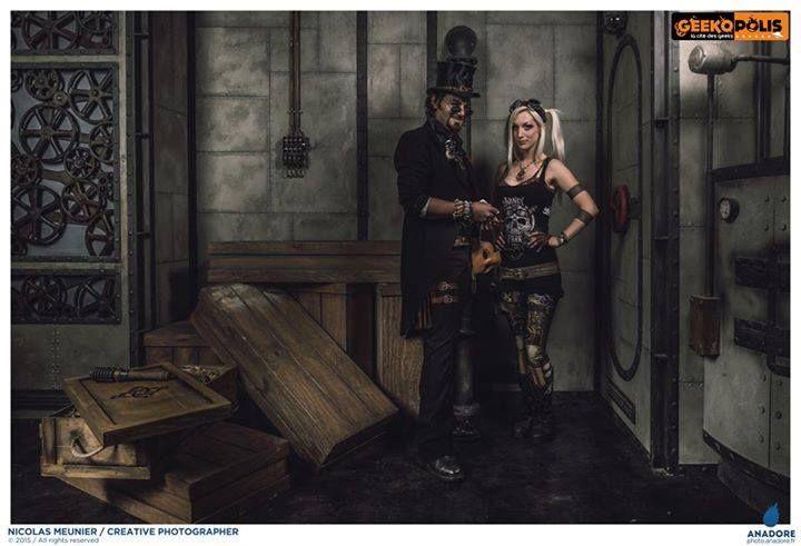 Steampunk Voodoo Baron Nomada & Kato  Model : Leonarius & Kato  Photo : Nicolas Meunier  Costume : Atelier Chazard  Geekopolis 2015    #Leonarius #Steampunk #Kato #Voodoo #clockpunk #DavinciPunk https://www.facebook.com/leonarius.n https://www.facebook.com/NicolasMeunierPhotographe https://www.facebook.com/steampunkato