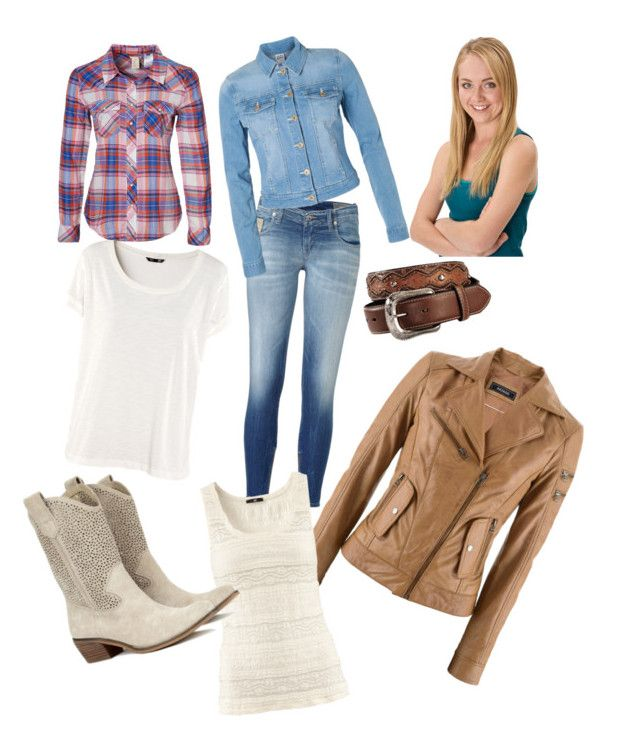 """""""Amy Fleming"""" by emtm2012 ❤ liked on Polyvore featuring moda, H&M, Diesel, Vero Moda, CO, Sole Society, Levi's e amy fleming flemming heartland amber marshall"""