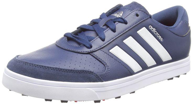 Adidas 2016 Adicross Gripmore 2 Climaproof Waterproof Spikeless Mens Golf Shoes Mineral Blue 10.5UK