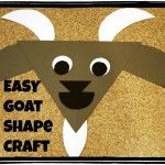 My Fathers World Kindergarten G is for Goat: Shapes Craft
