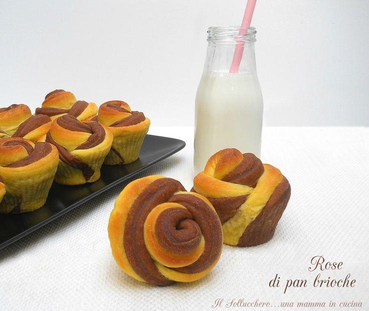 Le rose di pan brioche sono perfette per la colazione, soffici e profumate si possono farcire con confetture, crema pasticcera o nutella