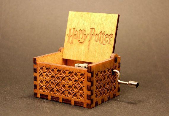Engraved Wooden Music Box  Harry Potter Theme by Soundbarrel