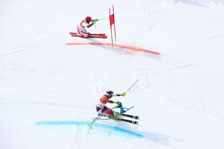 Switzerland has won the first running of the Alpine skiing team event at an Olympic Winter Games, defeating Austria 3-1 to take the gold medal at the Jeongseon Alpine Centre on Saturday 24 February.