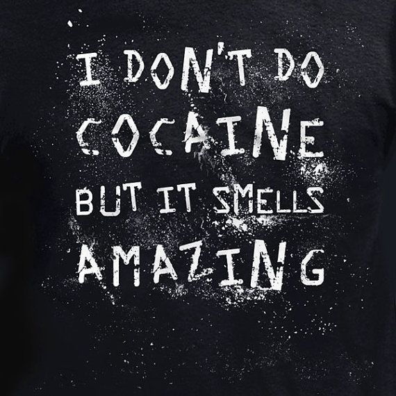 I Hate Cocaine T shirt Funny Blow Mature Drug Party by ShirtCandy