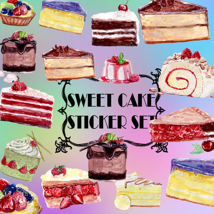 Cake Stickers,Cute Stationery Stickers,Diary Envelop Card Planner Decor Stickers