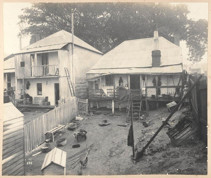 Bubonic Plague in Sydney  No. 7 West-street, off Oxford-street (rear) from Views taken during Cleansing Operations, Quarantine Area, Sydney, 1900