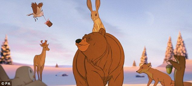 I've got your back: The new John Lewis Christmas advert features a hare and a bear